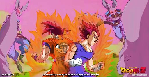 Fusão Goku e Vegeta Deus Super Sayajin