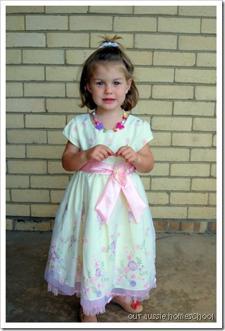 Our Aussie Homeschool ~ Easter Dress