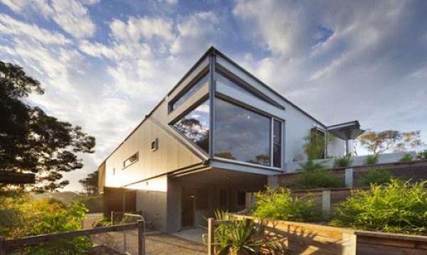 fachada-casa-hormigon-vidrio-acero-corten-acero-galvanizado