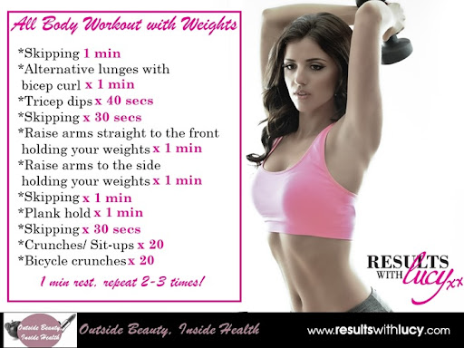 results with lucy towie all body workout
