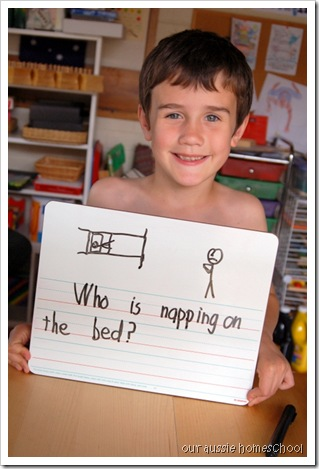 Mini Whiteboard for Spelling ~ Our Aussie Homeschool