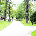 Little park in the center of the city.