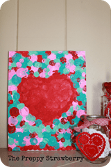 Valentines Day Kids Art Project { The Preppy Strawberry}