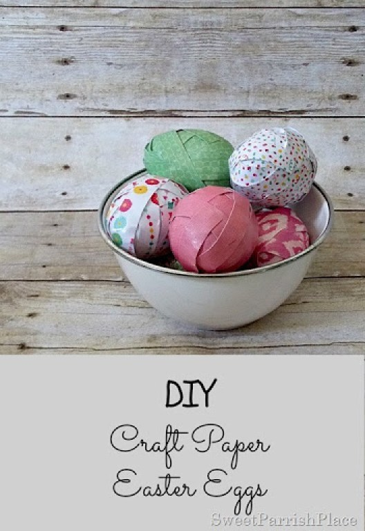 Craft Paper Easter Eggs