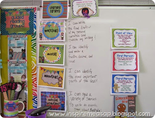 An example of a learning target for a guided reading lesson with the text The Story of Ruby Bridges.