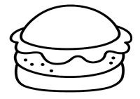 Dibujo de hamburguesa para colorear