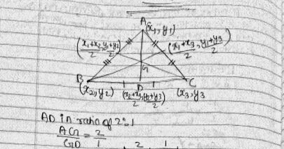 ALL CBSE STUFF ©: DERIVATION OF CENTROID OF TRIANGLE