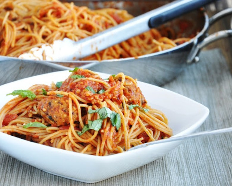Spaghetti Vegetarian Quinoa Meatballs (healthy-ish, gluten-free option)