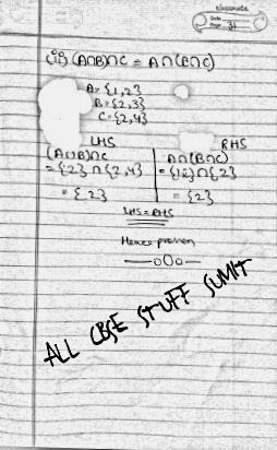 ALL CBSE STUFF ©: Idempotent law and associative law help