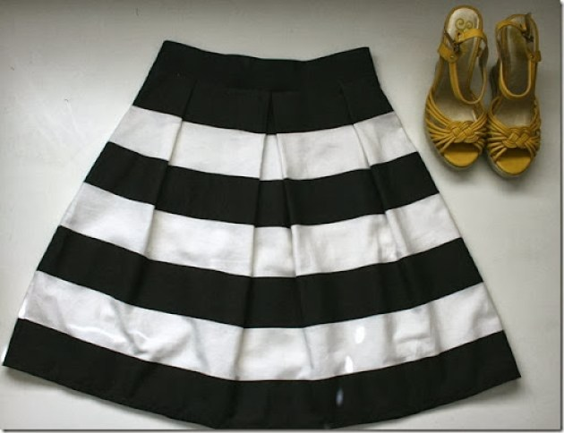 pleated bell skirt tutorial with elastic waist