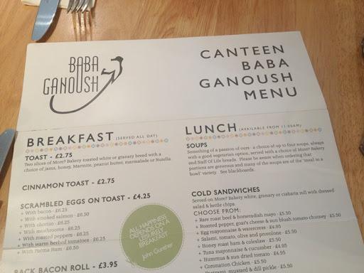Baba Ganoush Canteen Review