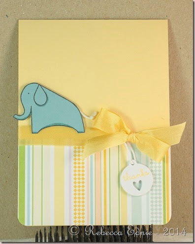 baby folder matching card elephant ty
