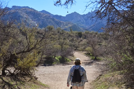 setting out on the Canyon Loop trail at Catalina SP