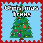 christmas trees button