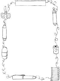 MARCOS Y BORDES INFANTILES PARA COLOREAR  Dibujos para