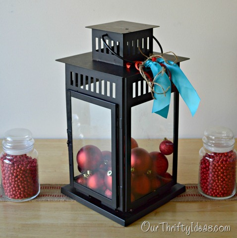 Our Thrifty Ideas: Lantern Christmas Decor