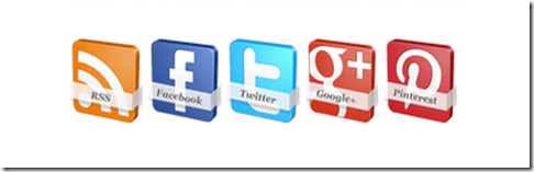 Stylish 3D Social Buttons With Mouse Hover Rotating Effect For Blogger (masterhacksindia.blogspot.com)