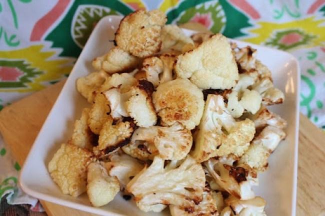 Roasted Garlic And Parmesan Cauliflower