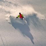 Ingo in fantastic powder. Still in Meribel, Mont Vallon...