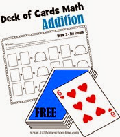 deck of cards math - addition