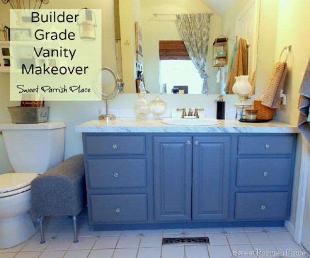 builder grade vanity makeover