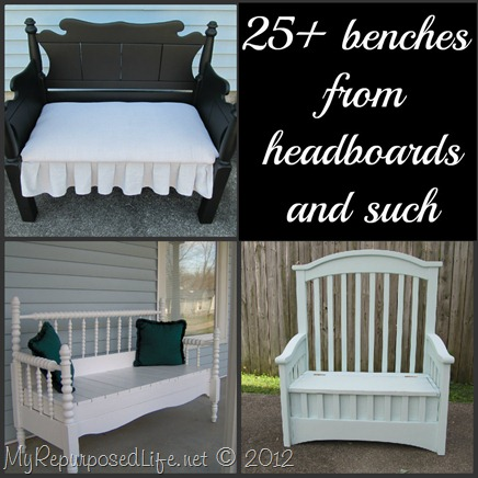 25+ benches from headboard