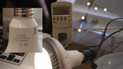 燈泡耗電瓦數標示實測(鹵素.省電燈泡.LED.CCFL.) | 計算0123456789