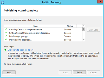 topology-publishing-wizard-complete
