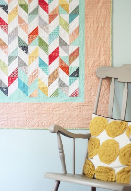 Coral Brights Quilt