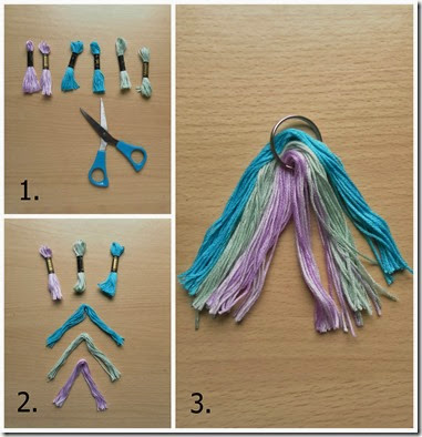 Tassel Bag Charm Step 1