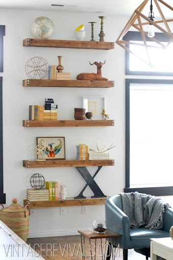 diy small living room makeover decorating ideas black leather couch reveal vintage revivals built in shelving