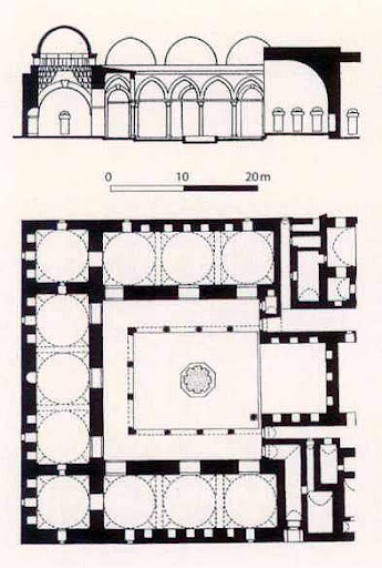 Ground plan of the Madrasa al-Firdaus in Aleppo