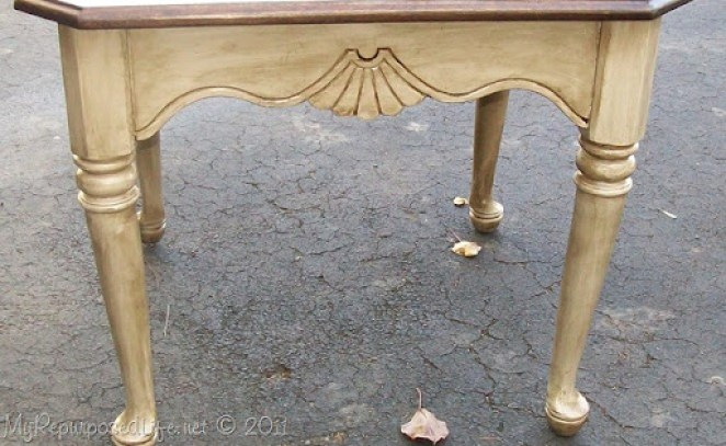 shabby side table