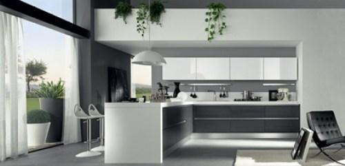 mueble-cocina-blanco-minimalista Cocinas modernas blancas