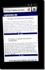 Aplicación móbil upnews