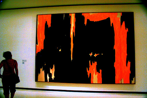 Clyfford Still at the Albright Knox museum, July 2010.
