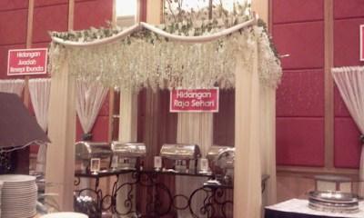Buffet ramadhan di de palma hotel - susunan makanan
