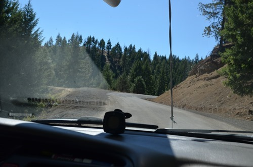on the Rowe Creek Road shortcut to the Painted Hills Unit