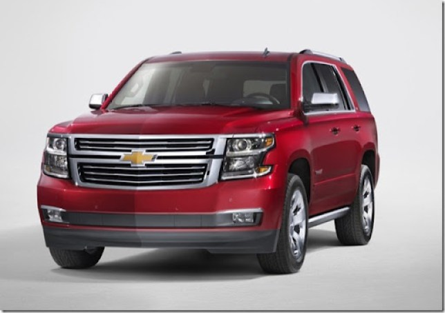 2015 Chevrolet Tahoe in Crystal Claret front from New York Reveal