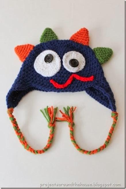 Crochet Toddler Monster Hat Pattern