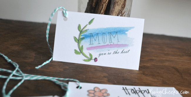 Mother's Day Watercolor Printable Gift Tags