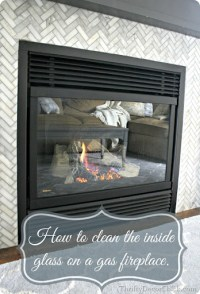 Cleaning gas fireplace glass from Thrifty Decor Chick