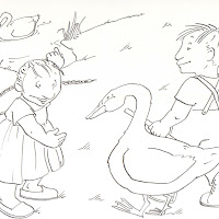 THE UGLY DUCKLING COLORING PAGES