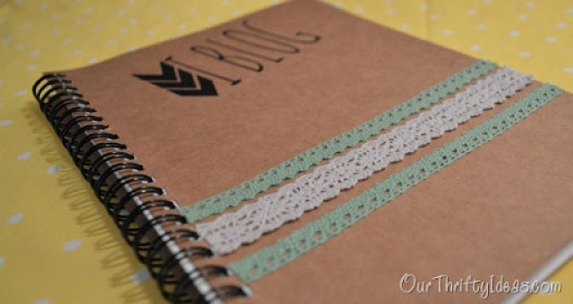 #DIY #Turorial on how to personalize a plain notebook to reflect your personality!