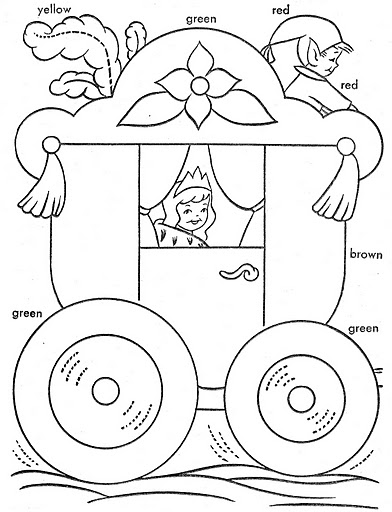 Dibujos De Carrozas De Princesas Para Colorear