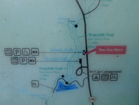 a bit farther up the road we find Sahalie and Koosah Falls