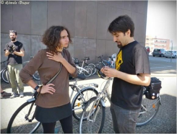 Reunião dos ciclistas de Braga com Inês barbosa, da candidatura Cidadania em Movimento