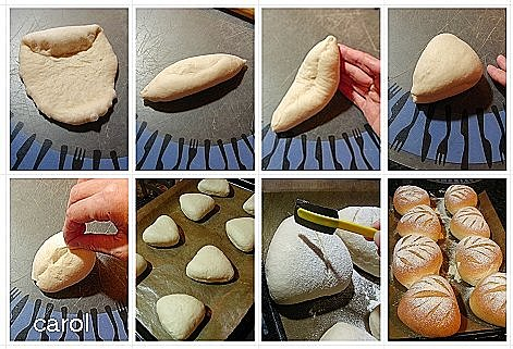 Carol 自在生活 : 牛奶法國麵包