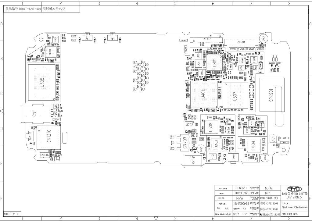 Lenovo A668T Schematics
