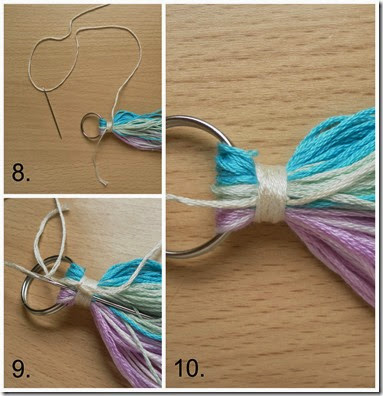 Tassel Bag Charm Step 3